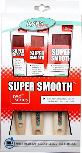 Product Image for Axus Red Super Smooth 3 Piece Brush Set